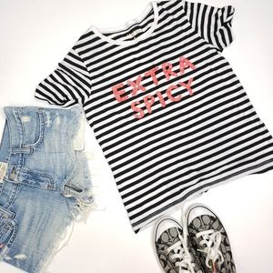 Kate Spade Extra Spicy striped t shirt